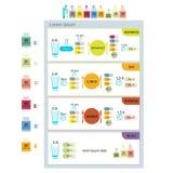 采取药片表, infographic为您的设计 库存图片