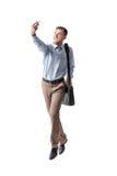 采取selfie的商人 免版税图库摄影