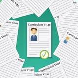 采摘的平的设计传染媒介例证概念从外形候选人聘用 从小组商人选择人 库存图片