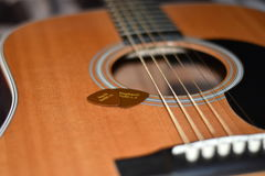 采撷n attatched的吉他串 免版税图库摄影