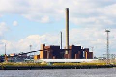 采煤全景发电站 库存照片
