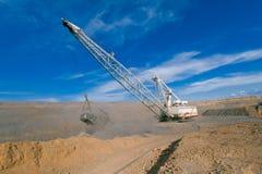 采煤剪切开放牵引索的最小值 库存图片