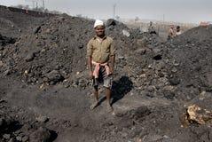 采煤印地安人工作者 免版税图库摄影