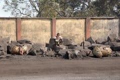 采煤印地安人工作者 免版税库存照片
