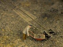 采煤困难运动的工作 免版税库存图片