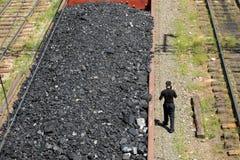 采煤培训 免版税库存图片