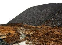 采煤堆查出的terricone浪费白色 库存照片