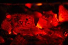 采煤壁炉热红色 免版税库存图片