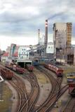 采煤工厂 免版税库存照片