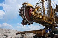 采煤挖掘机最小值钢黄色 免版税库存图片