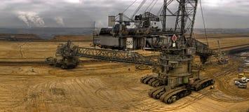 采煤挖掘者 免版税库存图片