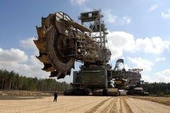 采煤挖掘者 库存照片