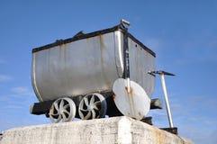 采煤无盖货车 库存照片