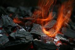 采煤火 免版税库存照片
