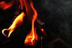 采煤火 图库摄影
