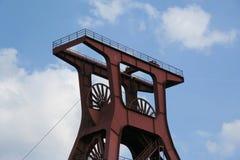 采煤著名矿井XII zollverein 免版税库存照片