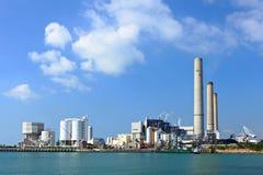采煤被射击的电力设备 免版税库存照片