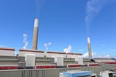采煤被射击的电力设备 图库摄影