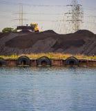 采煤被射击的工厂次幂 图库摄影