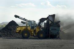 采煤装载 库存图片