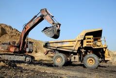 采煤设备开采 免版税库存照片