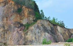 采石坑挖掘 免版税库存图片