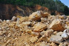 采石坑挖掘 库存照片