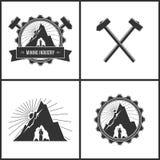 采矿业、标签或者徽章 图库摄影