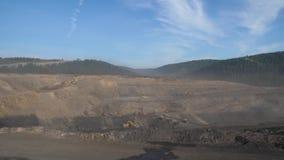 采矿全景,露天开采矿矿,联合矿业,倾销者,挖掘农业,剥离的工作 股票视频