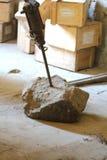 采矿博物馆、他的财富和他的工具 库存照片