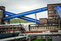 采矿基础设施在西里西亚地区,波兰 免版税库存照片