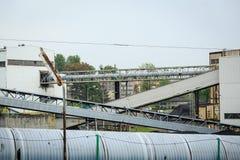 采矿基础设施在西里西亚,波兰 免版税图库摄影