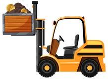 采矿拖拉机和Bitcoin 免版税库存图片