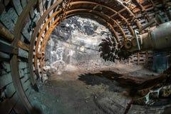采矿机在煤矿 免版税库存图片