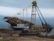采矿机,浮出水面煤矿 库存图片