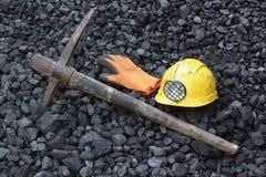 采矿煤炭 免版税库存图片