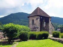 采矿的本营在Kremnica城堡的  免版税库存图片