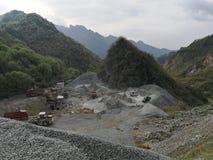采矿石头在百色市,广西省,中国 库存图片
