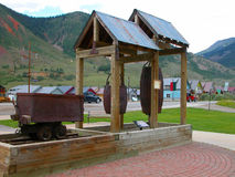 采矿设备-科罗拉多 免版税库存照片