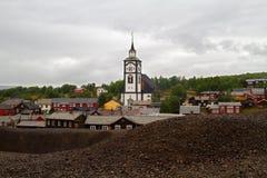 采矿镇Røros 库存图片