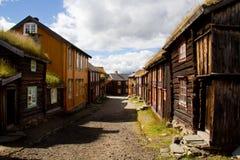 采矿镇Røros 免版税库存图片