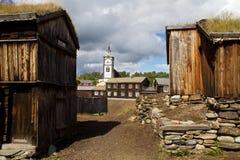 采矿镇Røros 免版税库存照片