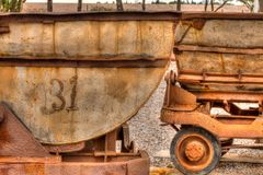 采矿齿轮在圣路易斯波托西州 免版税库存图片