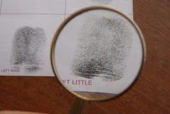 采考试的指纹 免版税库存图片
