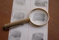 采考试的指纹 免版税库存照片
