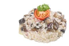 采蘑菇意大利煨饭 免版税图库摄影