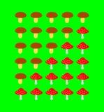 采蘑菇等级量表 免版税库存照片