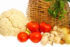 采蘑菇蔬菜 库存图片