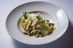 采蘑菇porcini意大利煨饭 库存图片