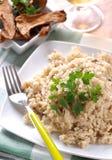 采蘑菇porcini意大利煨饭 免版税库存图片